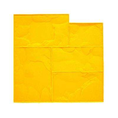 24 in. x 24 in. Ashlar Yellow Floppy Stamp