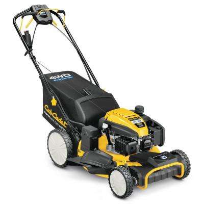 21 in. 196cc All-Wheel Drive 3-in-1 High Rear Wheel Gas Walk Behind Lawn Mower with Push Button Electric Start