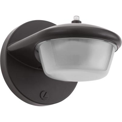 6 in. 1-Light Bronze Integrated LED Outdoor Barn Light Sconce with Dusk to Dawn Photocell