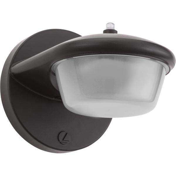 6 in. 70-Watt Equivalent Integrated LED Dark Bronze Outdoor Barn Wall Pack Light Sconce with Dusk to Dawn Photocell
