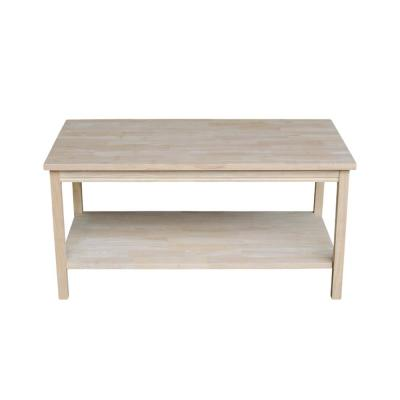 Portman 36 in. Beige Medium Rectangle Wood Coffee Table