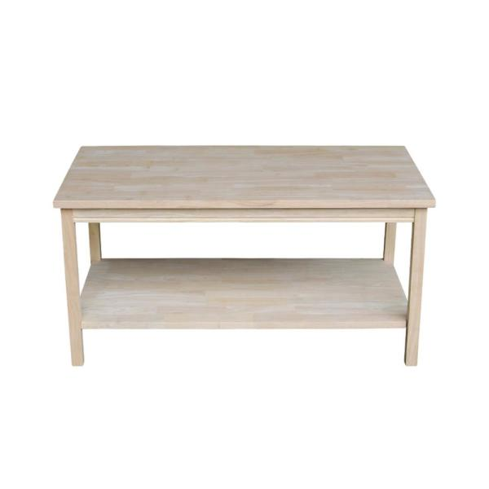 Portman 36 in. Beige Medium Rectangle Wood Coffee Table