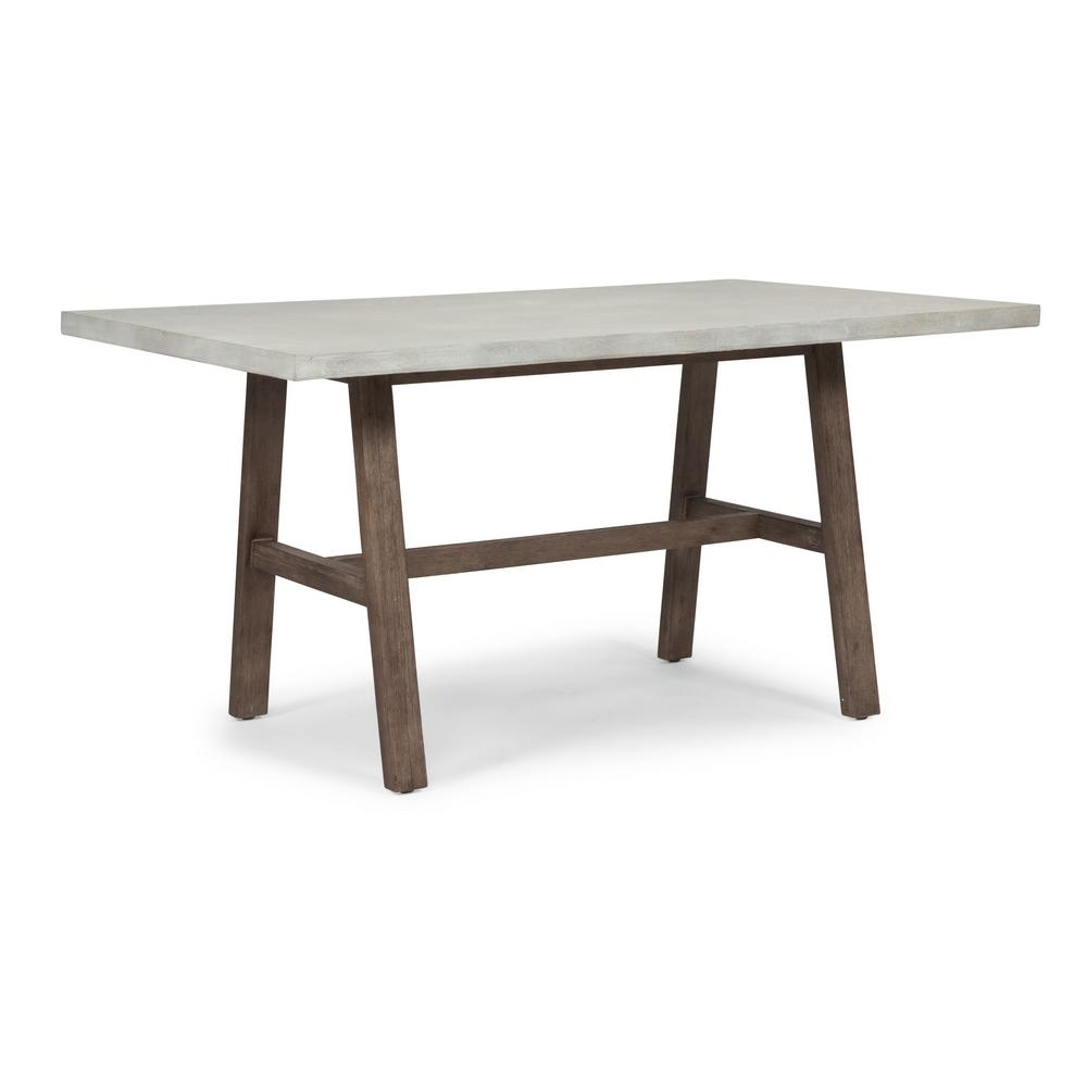 Home Styles Concrete Chalky White And Brown Chic Dining