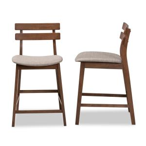 Outstanding Baxton Studio Larine 24 In Light Grey Wood Counter Stool Andrewgaddart Wooden Chair Designs For Living Room Andrewgaddartcom