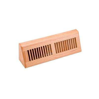 4.5 in. x 15 in. Wood Red Oak Natural Finish Base Board Diffuser