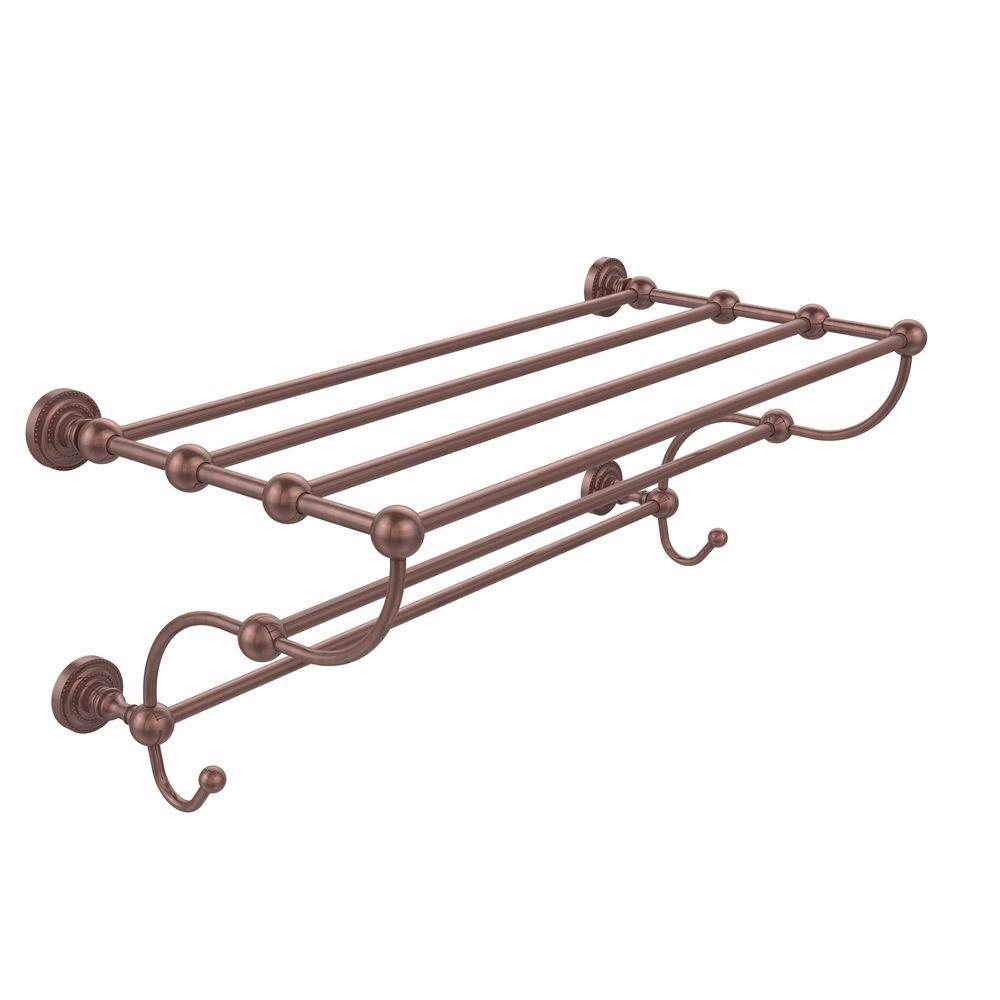 Dottingham Collection 36 in. Train Rack Towel Shelf in Antique Copper