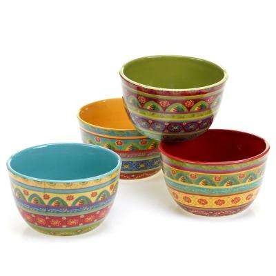 Tunisian Sunset Ice Cream and Cereal Bowl (Set of 4)