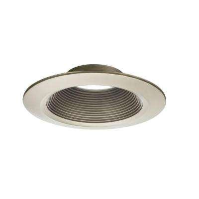 6 in. Brushed Nickel Recessed Downlighting Trim