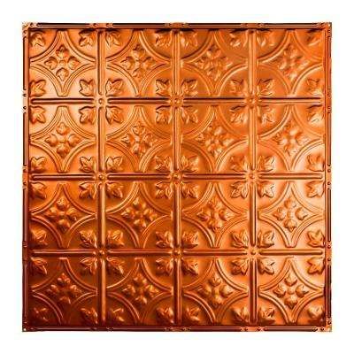 Hamilton 2 ft. x 2 ft. Nail-up Tin Ceiling Tile in Copper