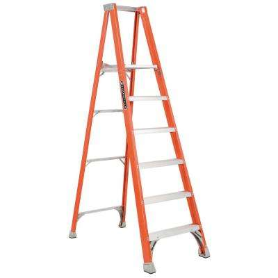 6 ft. Fiberglass Platform Step Ladder with 300 lbs. Load Capacity Type IA Duty Rating