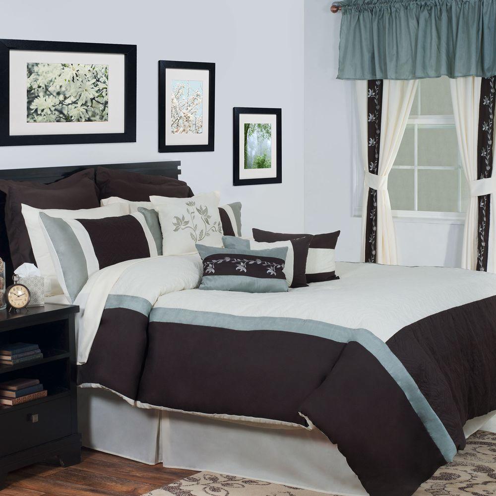 Annette Cream 24-Piece Queen Comforter Set by