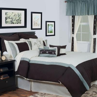 Annette 25-Piece Cream King Bed in a Bag Set