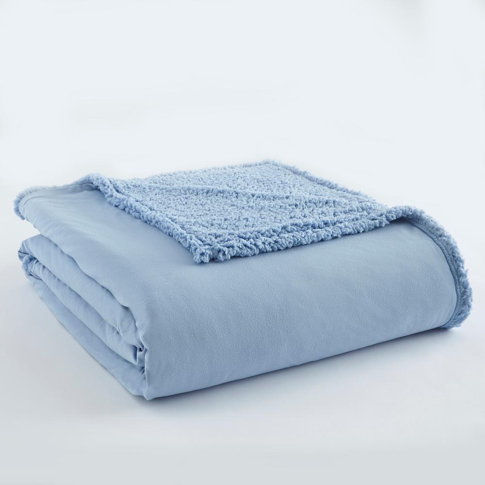 Wedgewood Sherpa Back Polyester King Blanket