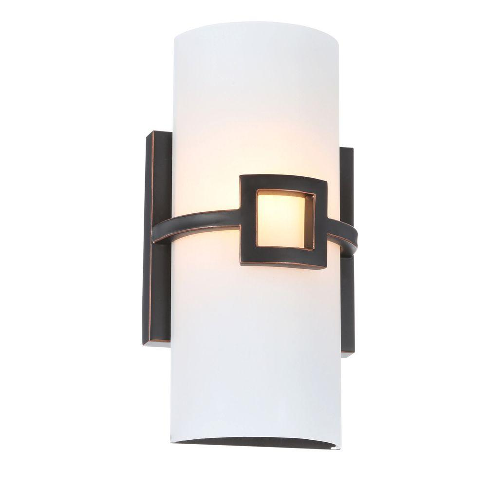 Design House Monroe Collection 1 Light Oil Rubbed Bronze Bathroom Wall Sconce