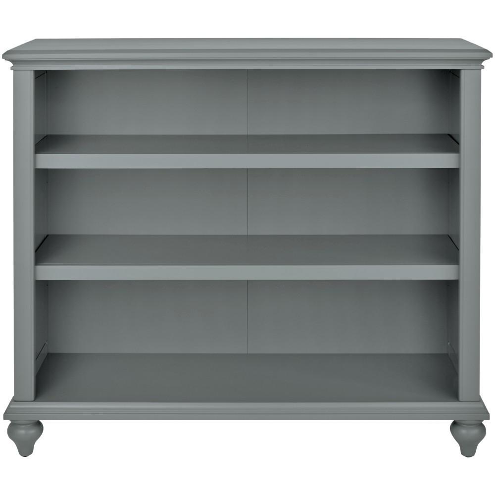 Hamilton 3-Shelf Grey Open Bookcase