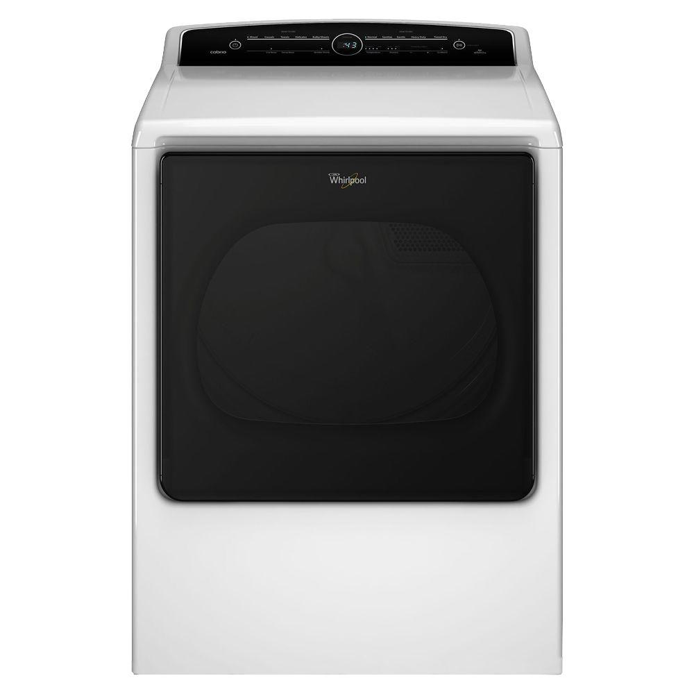 Whirlpool 8.8 cu. ft. High-Efficiency Gas Dryer with Advanced Moisture Sensing in White, Intuitive Touch Controls