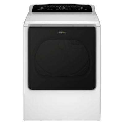 8.8 cu. ft. 120-Volt High-Efficiency White Gas Vented Dryer with Advanced Moisture Sensing and Intuitive Touch Controls