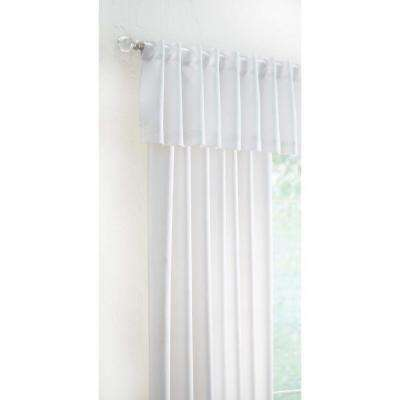 15 in. L Monaco Lined Polyester Valance in White
