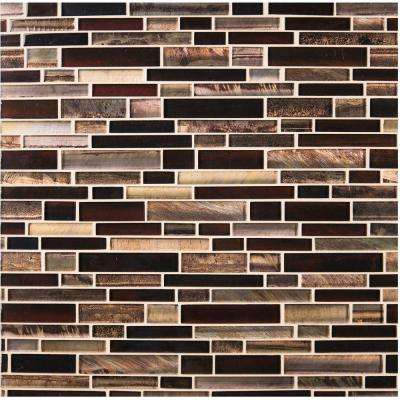 Artista Interlocking 12 in. x 12 in. x 8 mm Glossy Glass Mesh-Mounted Mosaic Wall Tile (10 sq. ft. / case)