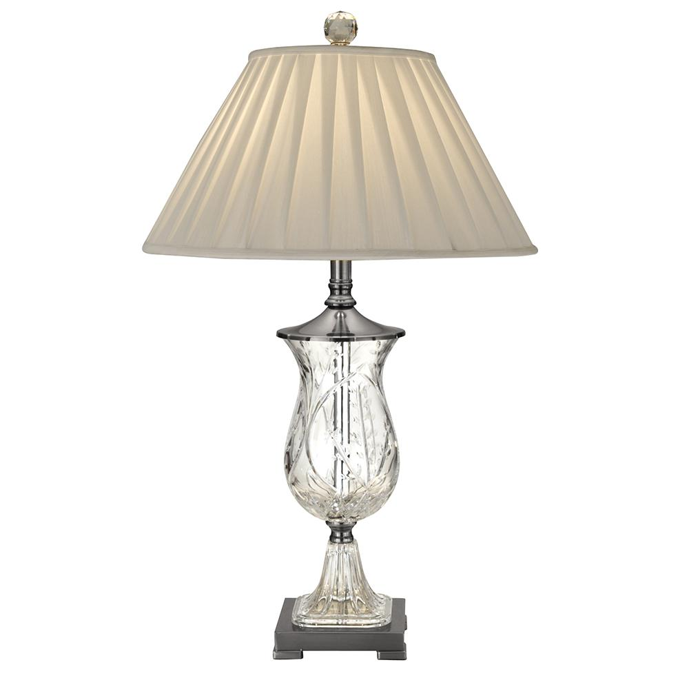 Dale tiffany 295 in labelle crystal antique nickel finish table labelle crystal antique nickel finish table lamp with fabric shade geotapseo Images
