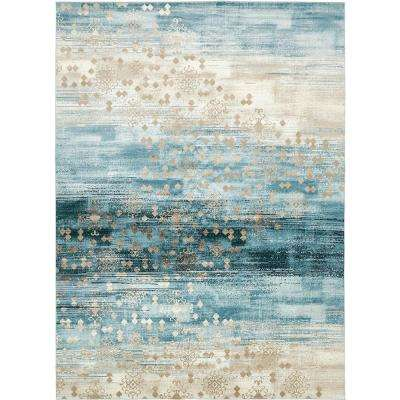 Mirage Dark Blue 10 ft. 2 in. x 13 ft. 5 in. Area Rug