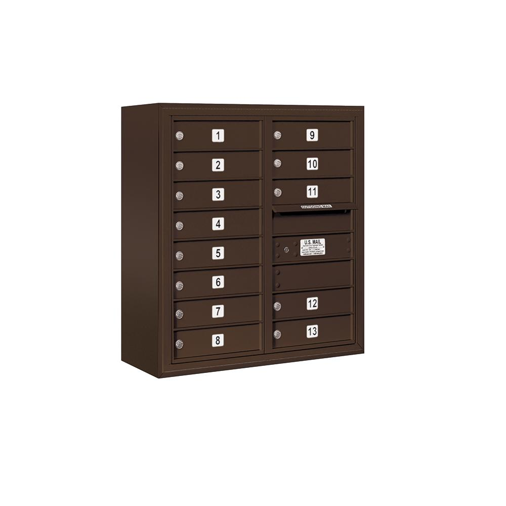3800 Horizontal Series 13-Compartment Surface Mount Mailbox