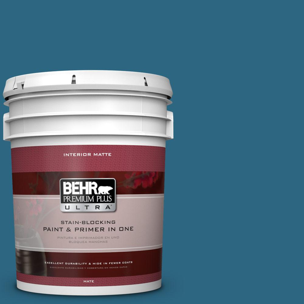 BEHR Premium Plus Ultra 5 gal. #M480-7 Ice Cave Matte Interior Paint
