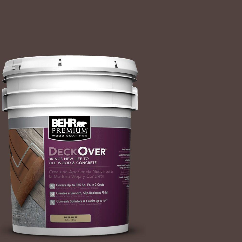 5 gal. #PFC-25 Dark Walnut Solid Color Exterior Wood and Concrete