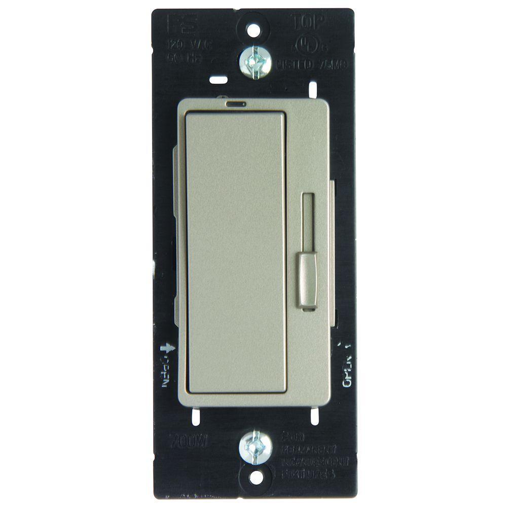 null 700-Watt Single Pole/3-Way Decorator Dimmer - Nickel Color