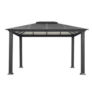 Paragon 11 ft. x 13 ft. Aluminum Hard Top Gazebo with Mosquito Netting by