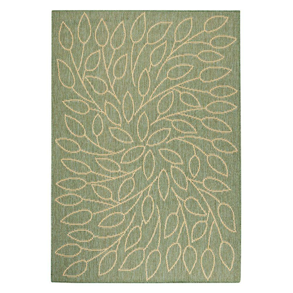 Home Decorators Collection Persimmon Green/Natural 7 ft. 6 in. x 10 ft. 9 in. Area Rug