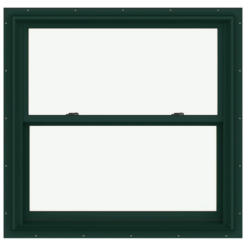 JELD-WEN 38.125 in. x 36.75 in. W-2500 Double Hung Clad Wood Window