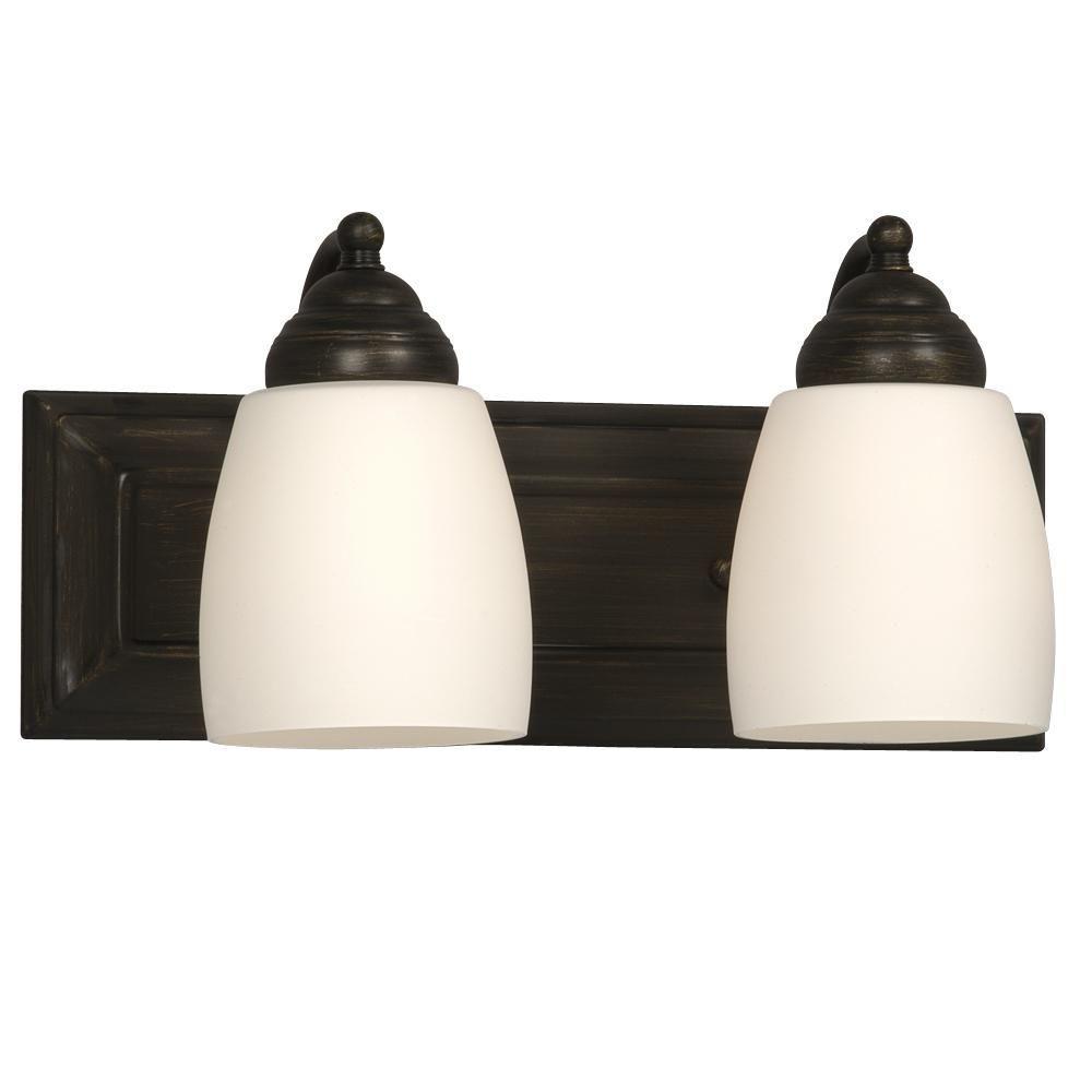 Filament Design Negron 2-Light Oil-Rubbed Bronze Incandescent Bath Vanity Light