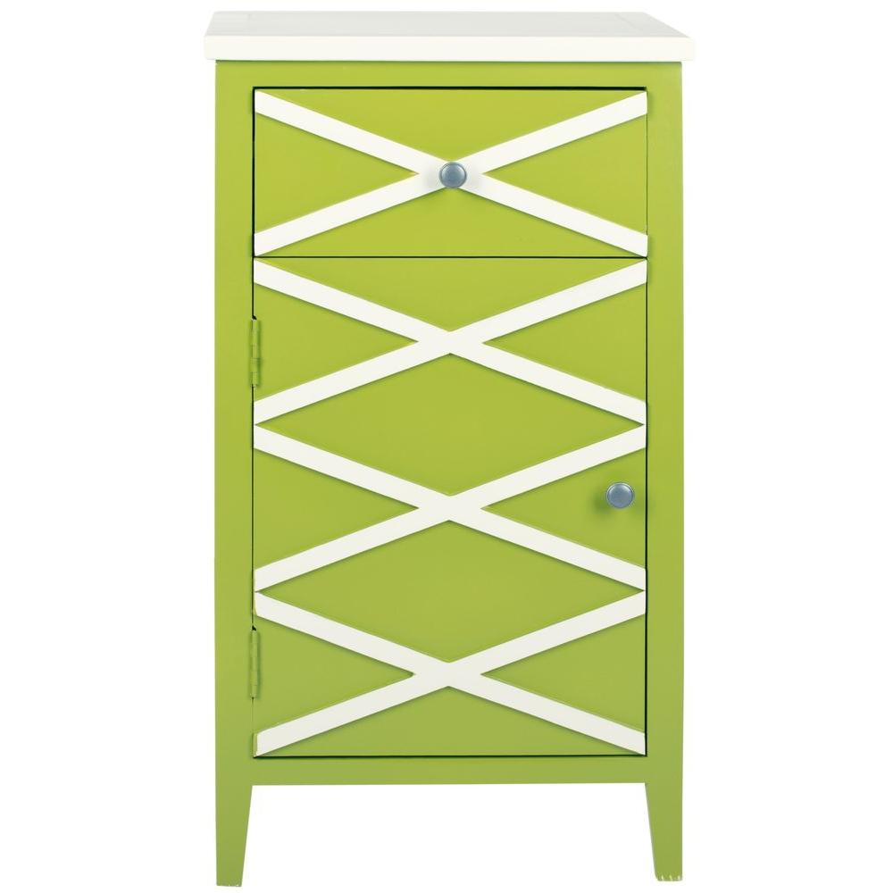Safavieh Brandy Lime Green/White Small Cabinet-DISCONTINUED