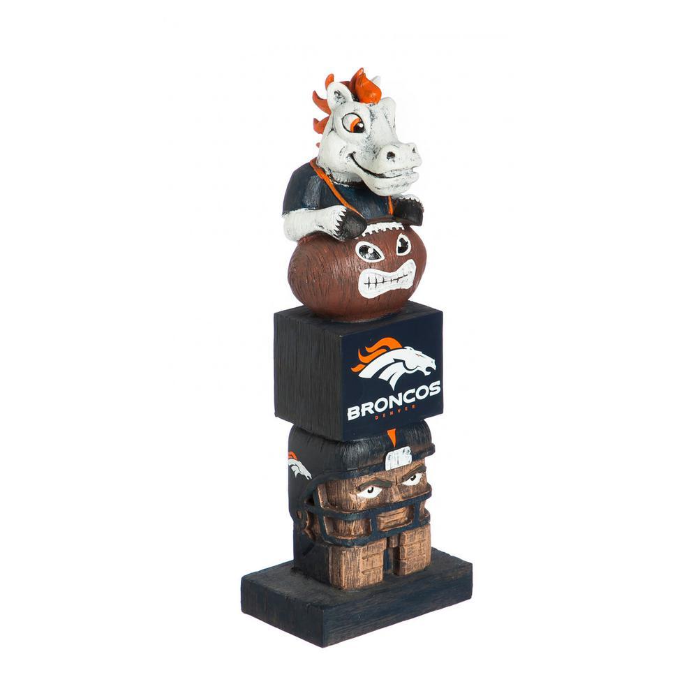 Denver Broncos Tiki Totem Garden Statue