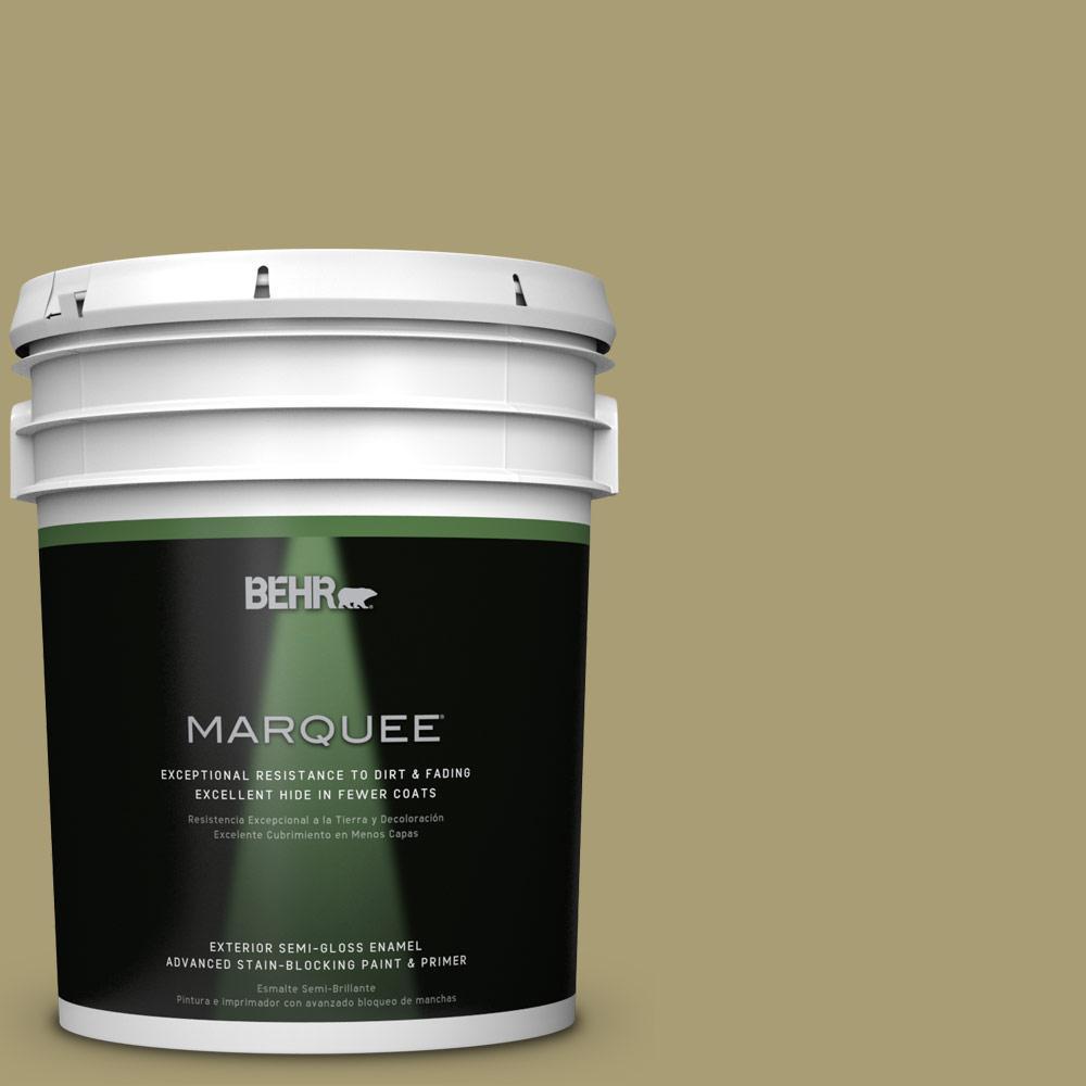 5-gal. #QE-36 Golden Sage Semi-Gloss Enamel Exterior Paint