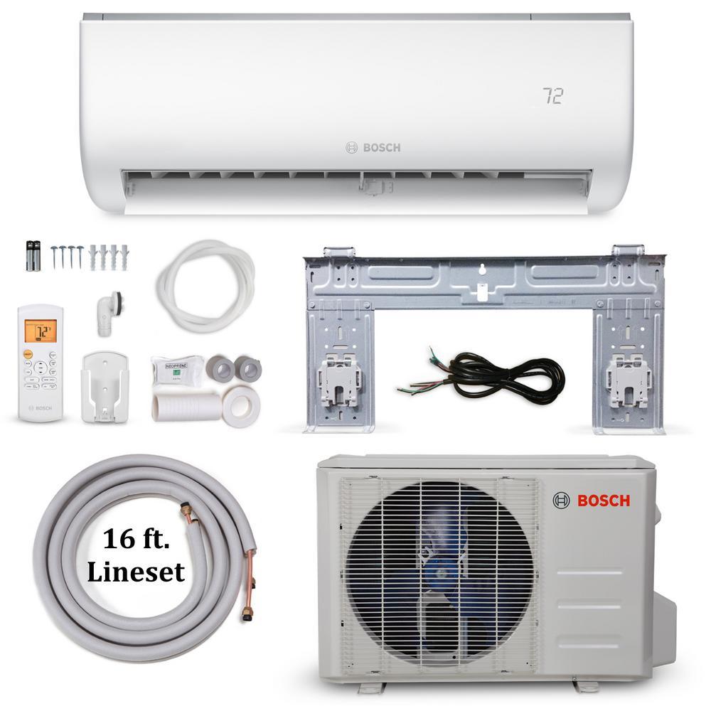 Bosch Climate 5000 Energy Star 12,000 BTU 1 Ton Ductless Mini Split Air Conditioner and Heat Pump - 230-Volt/60 Hz