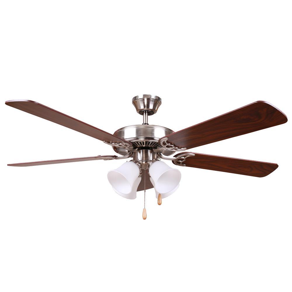 HARLI 52 in. Brushed Nickel Ceiling Fan