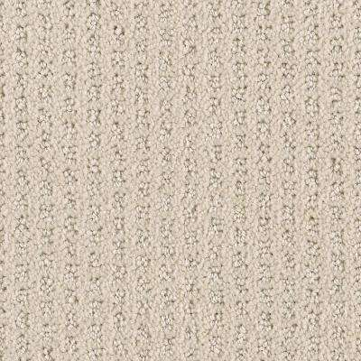 Carpet Sample - Game Face - Color Bone Textured 8 in. x 8 in.