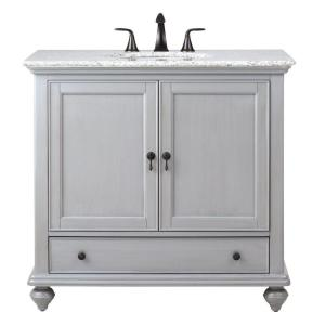 Home Decorators Collection Newport 37 inch W x 21-1/2 inch D Bath Vanity in Pewter with... by Home Decorators Collection