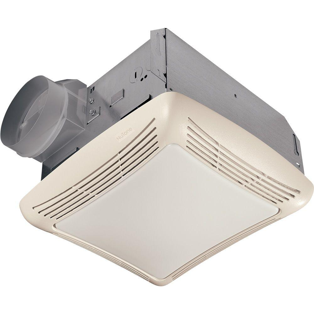 Nutone 50 cfm ceiling bathroom exhaust fan with light for Bathroom ventilation