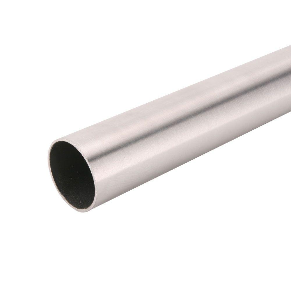 96 in. Brushed Nickel Heavy Duty Closet Rod