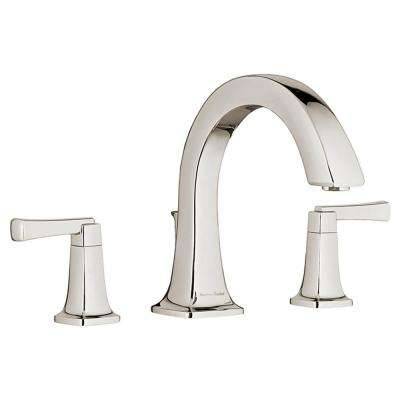 Townsend 2-Handle Deck-Mount Roman Tub Faucet for Flash Rough-in Valves in Polished Nickel