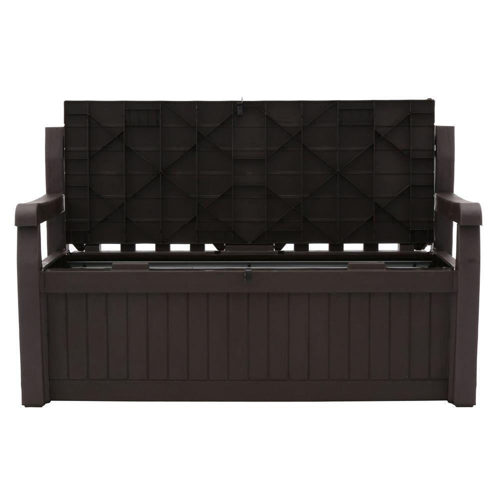 Wondrous Keter Eden 70 Gal Outdoor Garden Patio Deck Box Storage Bench In Brown Machost Co Dining Chair Design Ideas Machostcouk