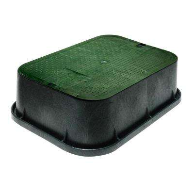 13 in. x 20 in. x 6 in. Jumbo Extension with Overlapping ICV Cover in Black Green