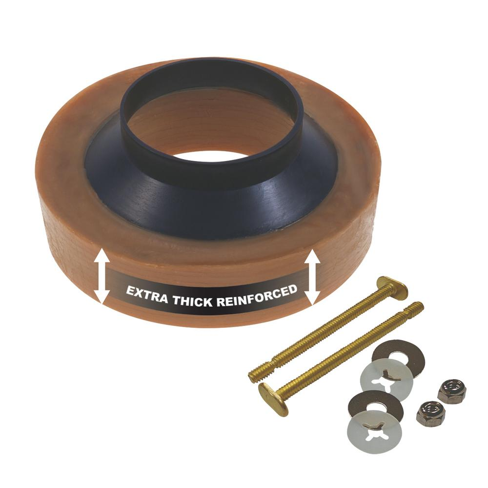 Everbilt Extra Thick Reinforced Wax Ring With Bolts 35 004374
