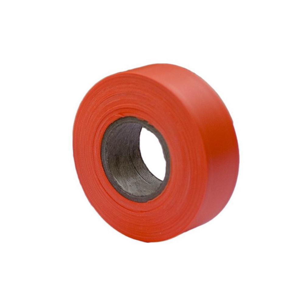 Bon Tool 1-3/16 in. x 150 ft. Fluorescent Orange Flagging Tape (12-pack)