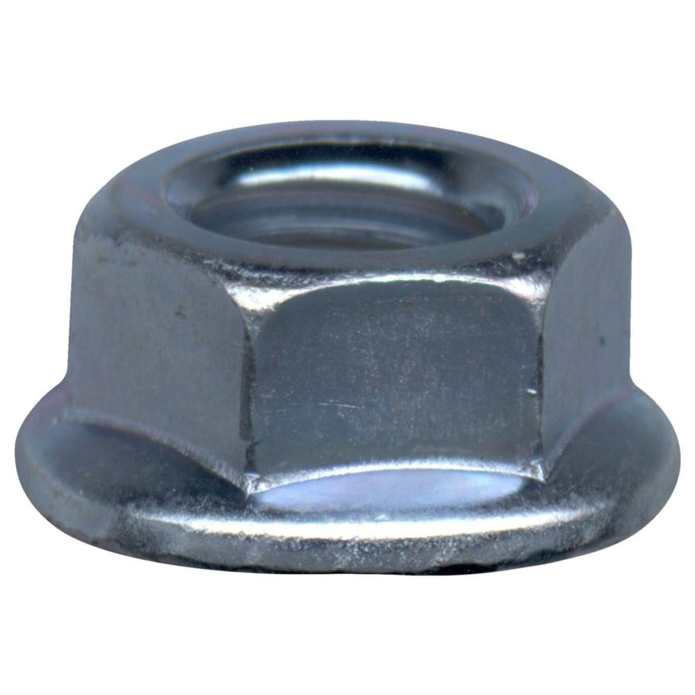 1/4 in. -20 tpi Grade 5 Zinc Plated Flange Nut (2-Pack)