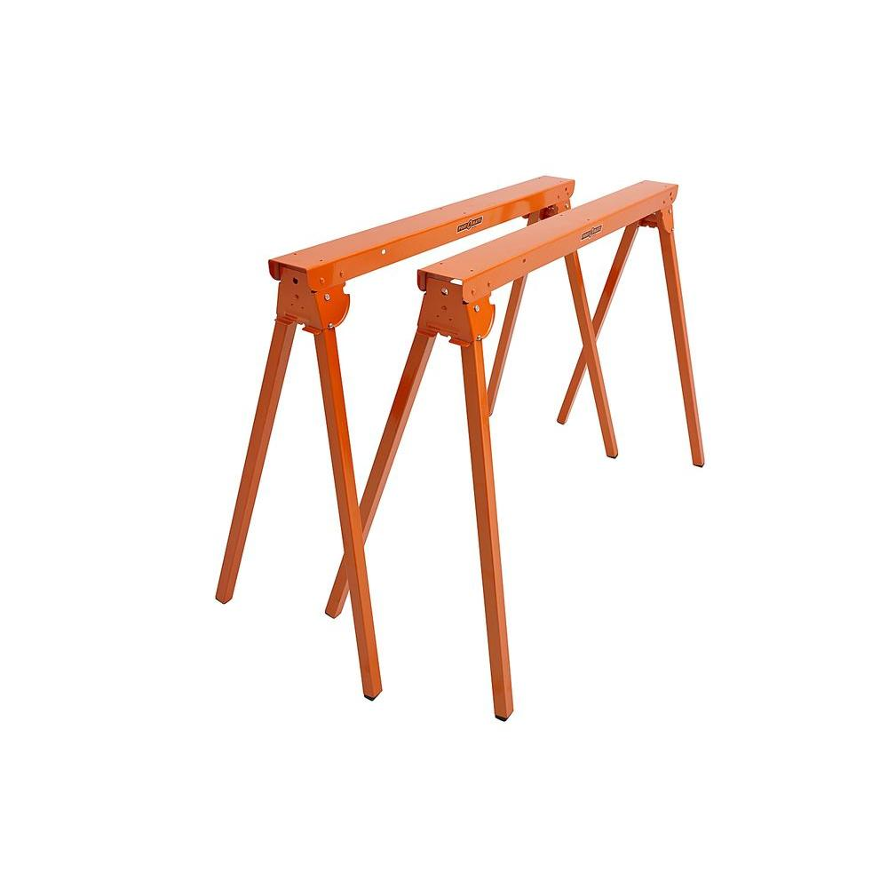 Portamate 36 In Folding Metal Sawhorse Pair Pm 3300t