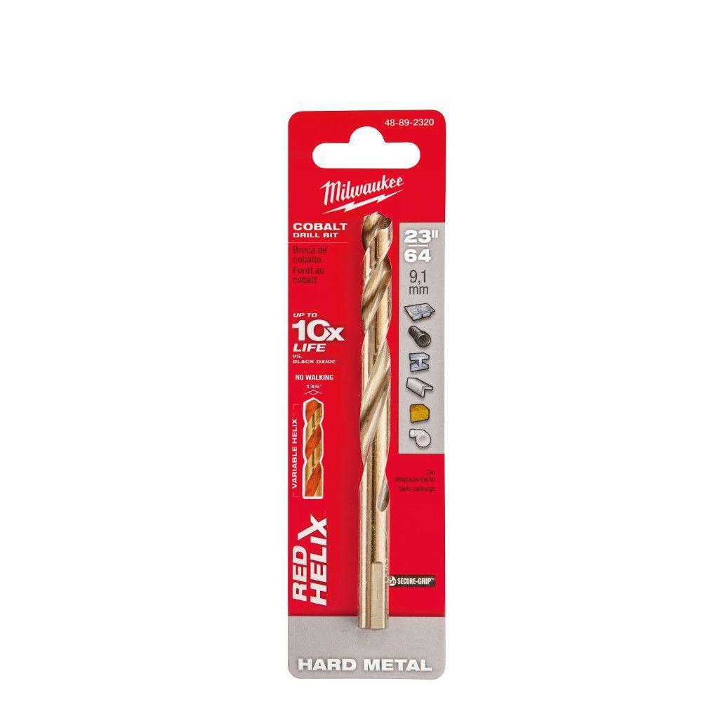 23/64 in. Cobalt Red Helix Drill Bit